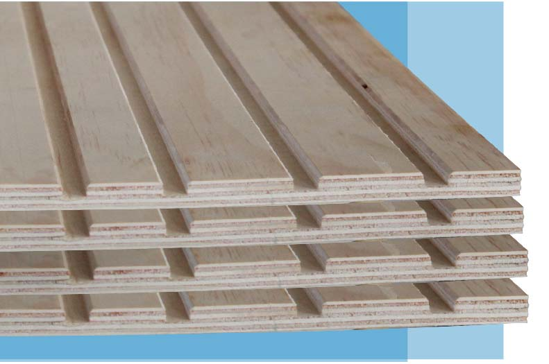 Slotted plywood/MDF