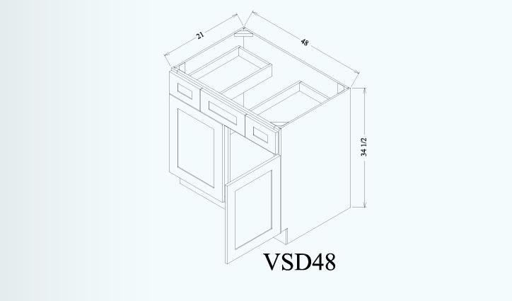 Vanity Sink Cabinet-VSD48