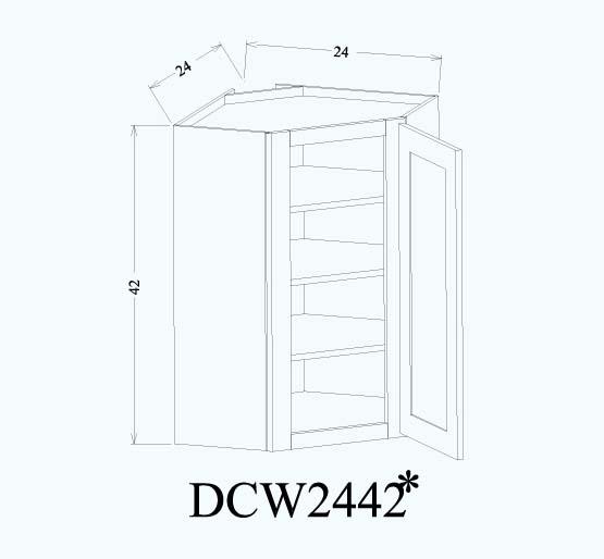 Corner wall-DCW2442*