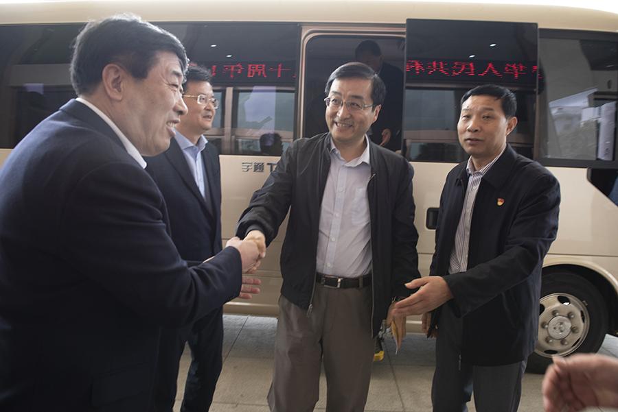 山东省副省长刘强莅临山东华邦建设集团走访调研