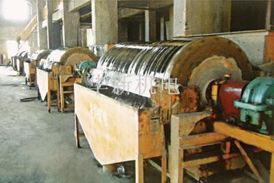 选矿厂永磁筒式磁选机应用现场