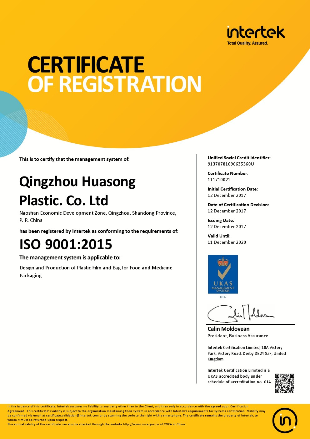 9001 management system certification 2